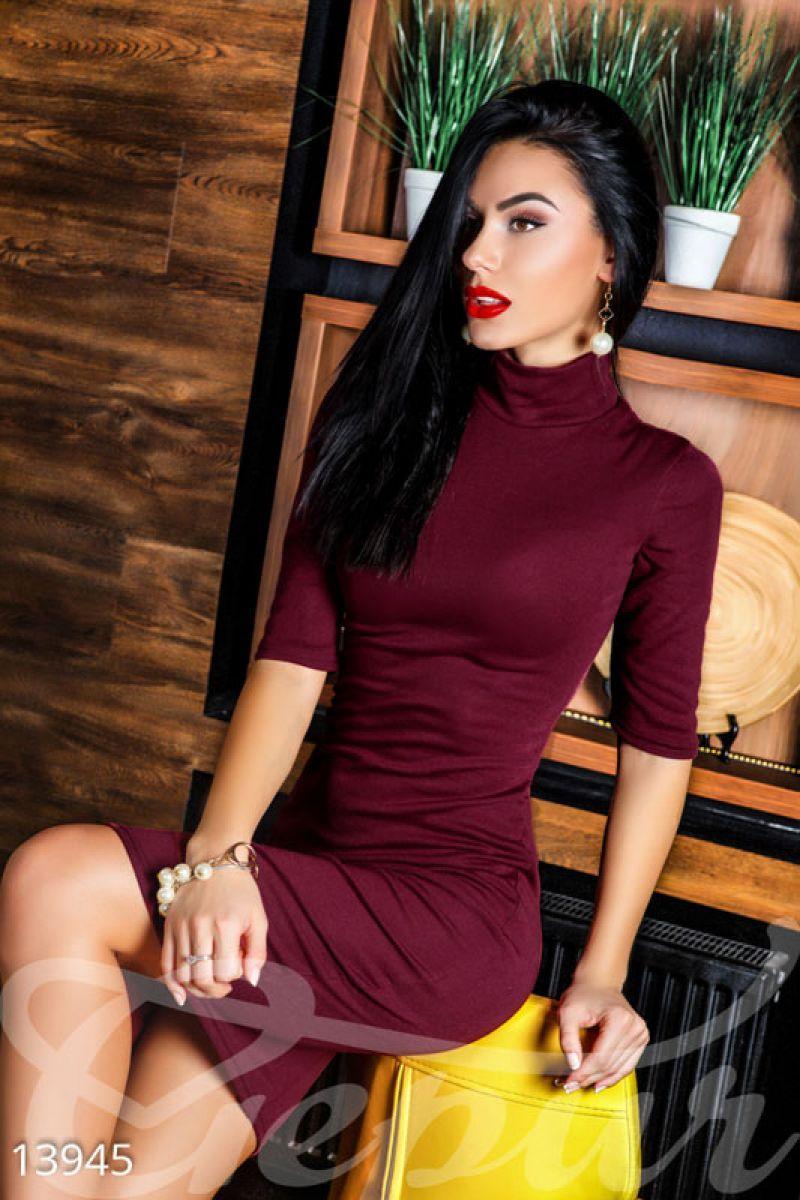 91e8f9b7e70ad0b Облегающее трикотажное платье - Интернет-магазин одежды ТОПШОП в Мариуполе