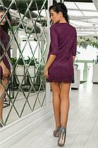 Женское Платье (141)717. (6 цветов), Ткань: Замш. Размеры: 44, 46, 48, 50., фото 2