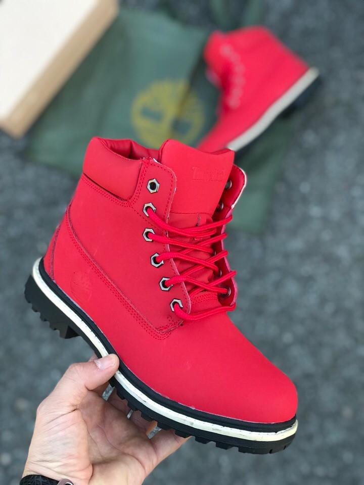 Женские кроссовки Timberland  красные