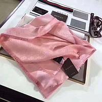 Стильный платок шаль в стиле Gucci (Гучи) розовый