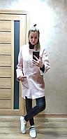 Полушерстяное женское пальто оверсайз прямого кроя 640261r