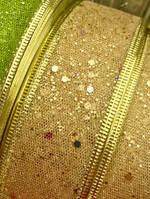 Лента Декоративная Новогодняя с Узорами Проволочный край для Украшения Подарков и Интерьера 4 см, фото 1