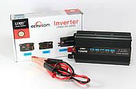 Автомобильный Инвертор / преобразователь напряжения UKC AC/DC SSK 1200W 12V220V, фото 1