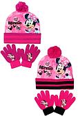 Шапка+перчатки для девочек Disney оптом.