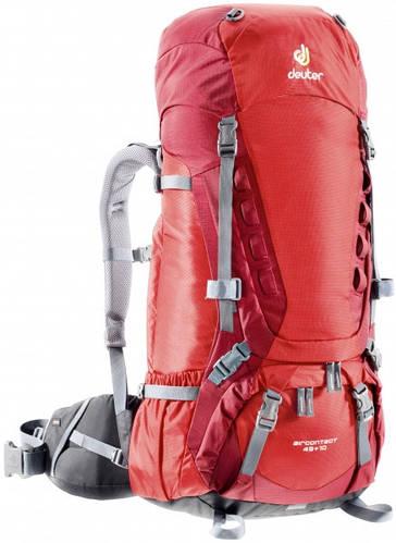 Бэкпекинговый, вместительный женский рюкзак на 45+10 л. ACT TRAIL 45+10 EL DEUTER, 33422 5520 красный