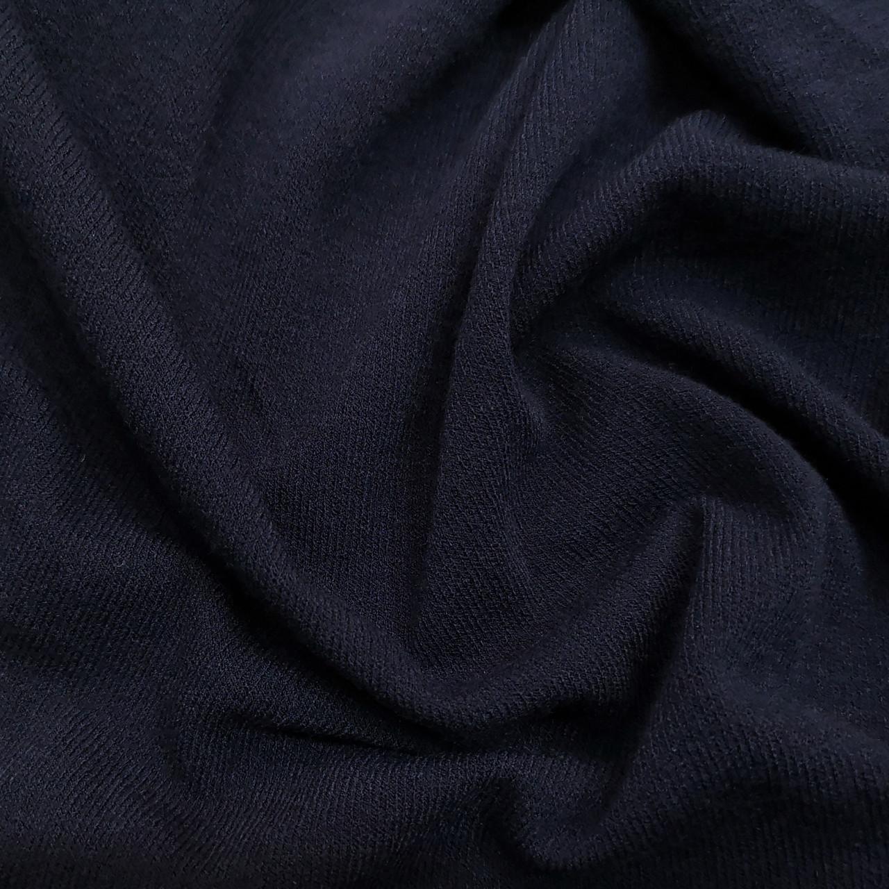 Трикотаж ангора тонкая темно-синяя