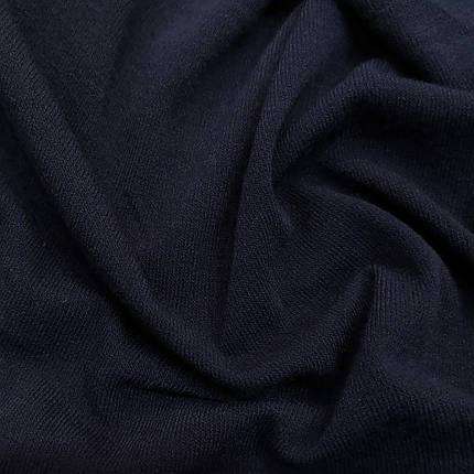 Трикотаж ангора тонкая темно-синяя, фото 2