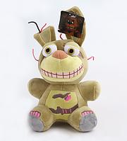 Мягкая плюшевая игрушка 5 ночей с Фредди Фантом. Спрингтрап 23 см, Аниматроники