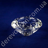 Подсвечник круглый из стекла, 2 размера свечей, 3.5×7.5 см