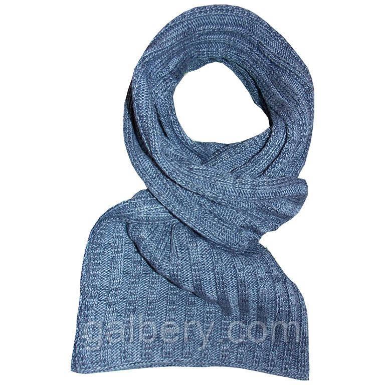 Зимний вязаный шарф