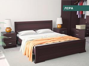 """Кровать """"Лира"""" из натурального дерева (сосна, ольха)"""
