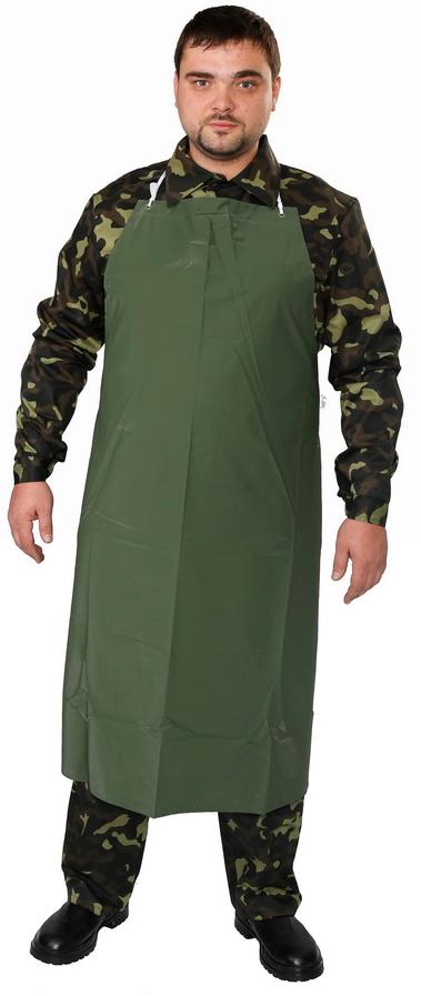 Фартук рабочий ПВХ зеленый