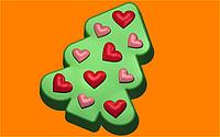Пластиковая форма для мыла № 484 - Ёлка сердца