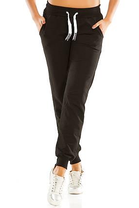 Теплые женские спортивные штаны 461 черные, фото 2
