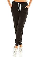 Теплые женские спортивные штаны 461 черные