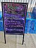 Рекламная светящаяся LED доска, Светодиодная Доска/Панель,Неоновая доска маркерная 50х70, фото 2