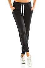 Теплые женские спортивные штаны 461 темно-синие