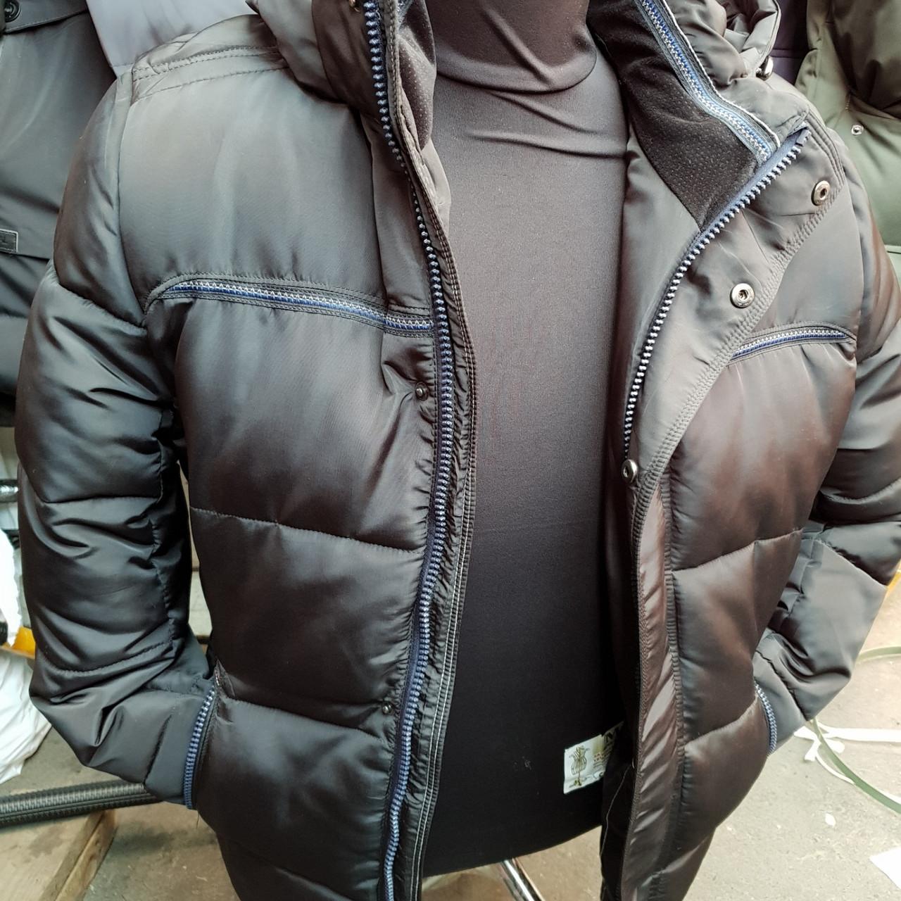 Куртка мужская оптом зима черная