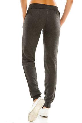 Женские спортивные штаны 406  антрацит, фото 2