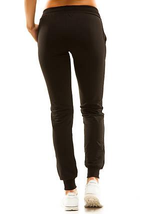 Женские спортивные штаны 406/1  черные, фото 2
