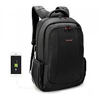 """Городской рюкзак для ноутбука 15,6"""" USB Тigernu (Тайгерну), черный цвет"""