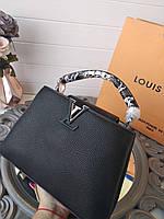 c9b7b7c1b271 Модная женская сумка LOUIS VUITTON CAPUCINES 27 см натуральная кожа (реплика )
