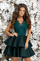 Шикарное праздничное платье.изумрудного цвета 42,44,46