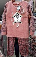 Тёплая женская пижама из махры 42-48