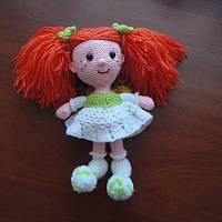 Вязаная кукла мягкая игрушка б/у