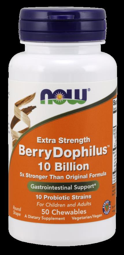 Now Extra Strength BerryDophilus 10 Billion 50 chewable