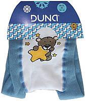 Колготы махровые голубые детские, мишка и звездочки, рост 74-80, Дюна