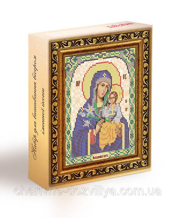 Набор для вышивания бисером икона Богородица Неувядаемый Цвет