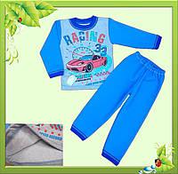 """Пижама для мальчиков  с однотонного футера начесного """"ТАЧКИ""""."""