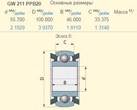AA28186 подшипник GW211PPB20