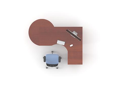 Комплект мебели для персонала серии Атрибут композиция №2 ТМ MConcept, фото 2