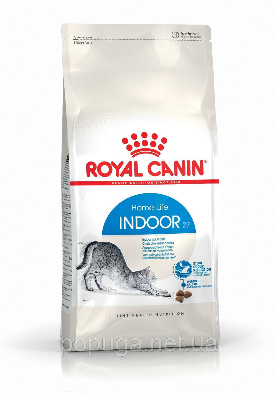 Royal Canin Indoor корм для кошек до 7 лет, живущие в помещении, 400 г