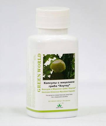 Капсулы с мицелием гриба Хоу-тоу Грин Ворлд купить,100 капсул по 500 мг, фото 2