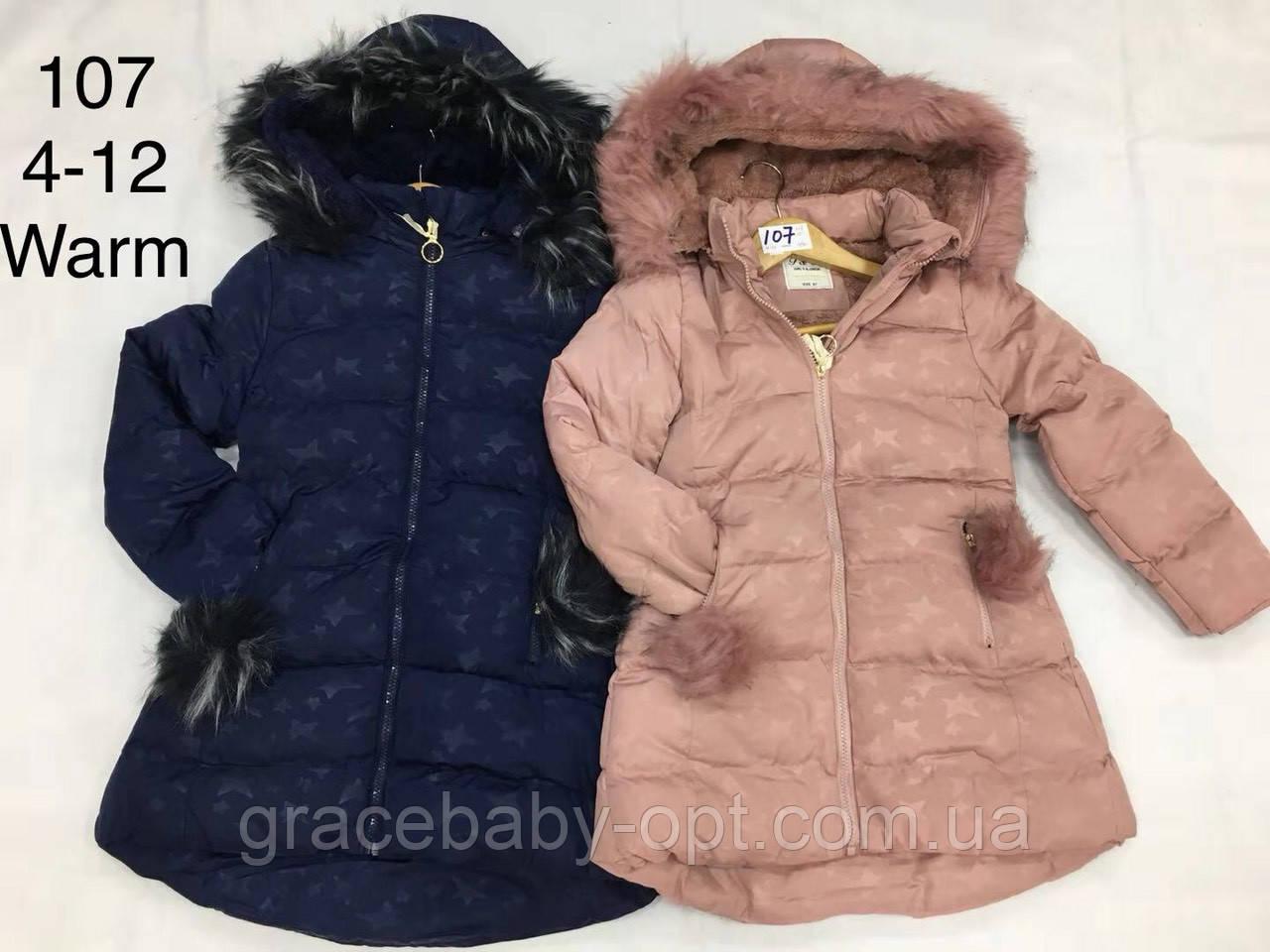 99cc9a39176f Куртка утепленная для девочек оптом, F D, 4-12 лет, № 107, цена 397 ...