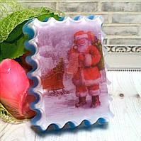 """Натуральное мыло ручной работы """"Санта со списком подарков""""."""