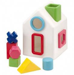 Развивающий сортер в виде домика с разными фигурками,  Kid'O