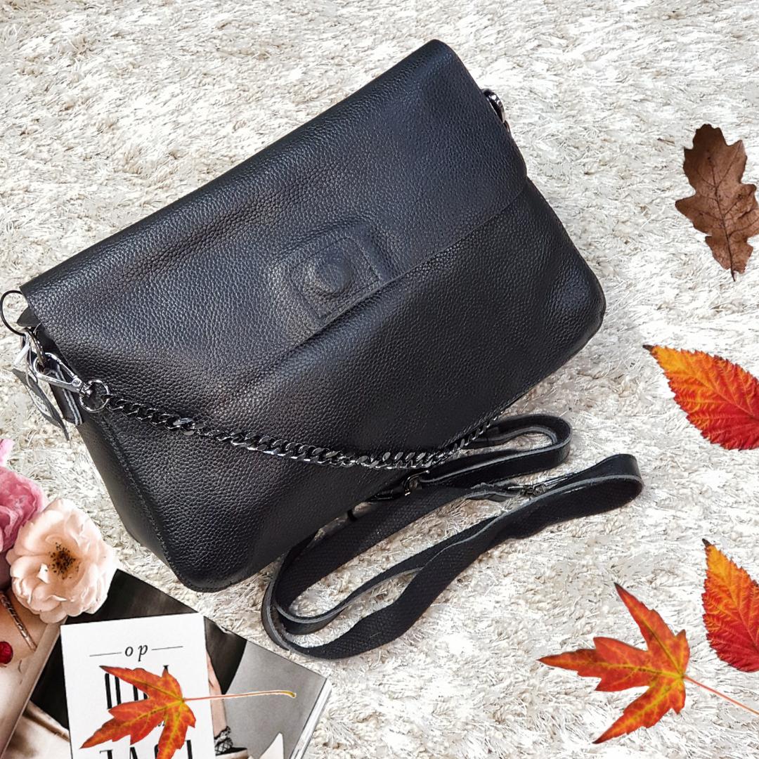 Женская маленькая женская сумка из натуральной кожи