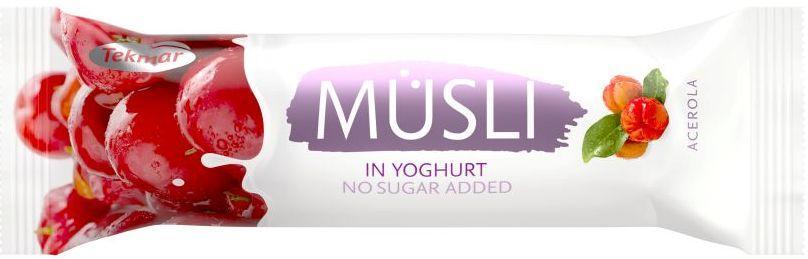 Батончик мюсли без сахара в йогурте - Ацерола