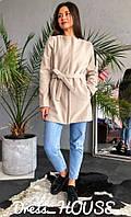 Женское кашемировое пальто короткое прямое 5PA119, фото 1