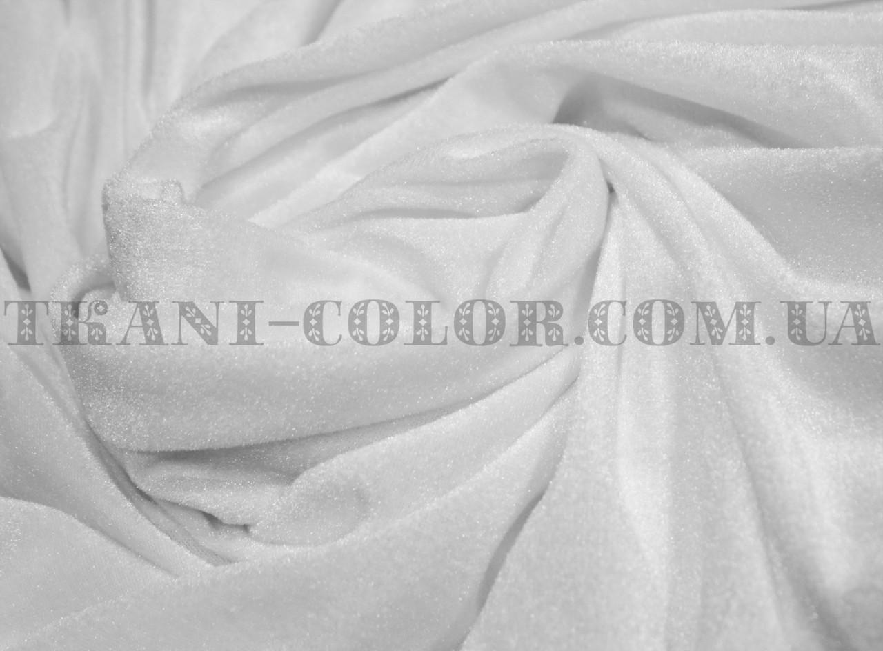 Велюр стрейчевый белый
