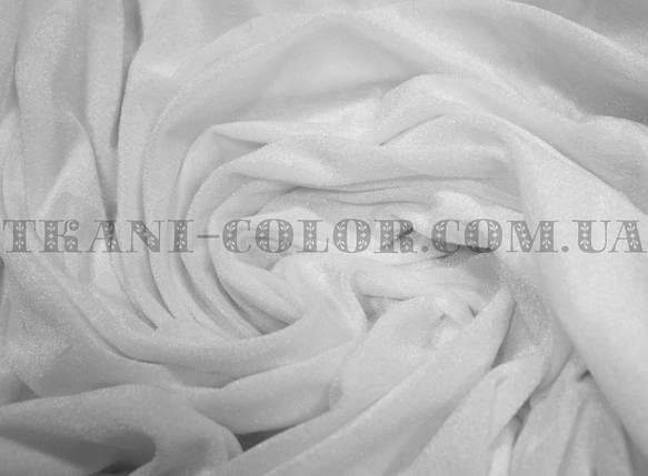 Велюр стрейчевый белый, фото 2