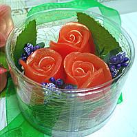 """Набор глицеринового мыла """"Розы с первоцветом"""", фото 1"""