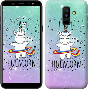 "Чехол на Samsung Galaxy A6 Plus 2018 I'm hulacorn ""3976c-1495-15886"""