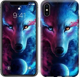 """Чехол на iPhone X Арт-волк """"3999c-1050-15886"""""""