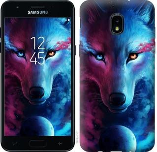 """Чохол на Samsung Galaxy J3 2018 Арт-вовк """"3999u-1501-15886"""""""