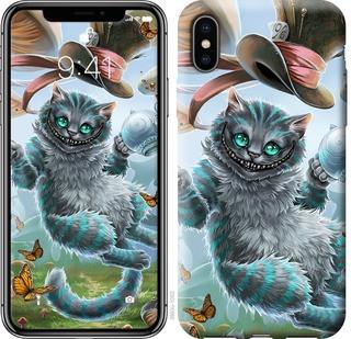 "Чехол на iPhone X Чеширский кот ""3993c-1050-15886"""
